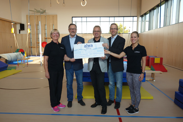 alwa-Stiftung untersützt die Jugendarbeit beim TSV Bietigheim im SportQuadrat